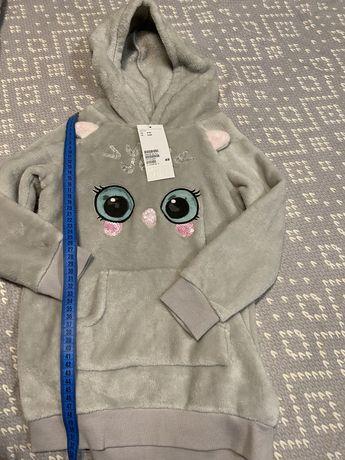 Туника H&M  кофта с капюшон crazy 8 худи