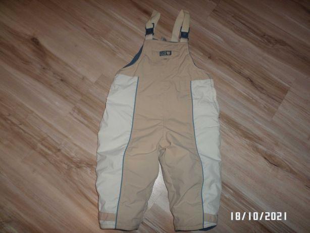 Śliczne spodnie zimowe- ocieplane-86cm-ogrodniczki-BEBY CLUB