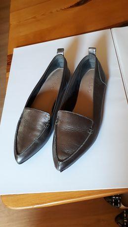 Buty damskie skóra plaskie czółenka 37
