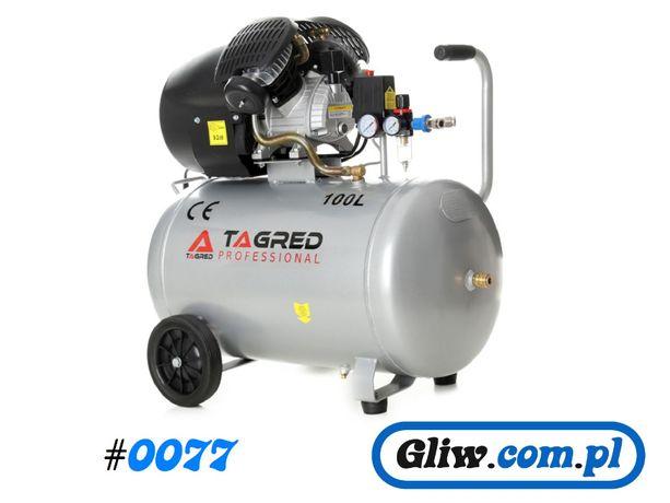 #0077 Sprężarka 100L/V2/230V/Separator Kompresor olejowy