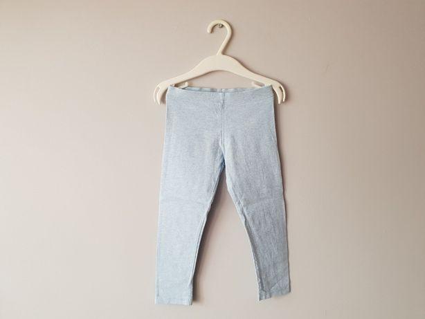 Idealne Legginsy spodnie F&F 98 2-3 lat błękitne dziewczęce