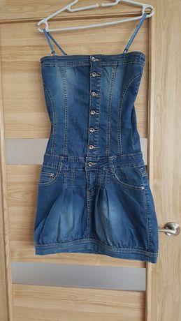 Sukienka jeans dżinsowa