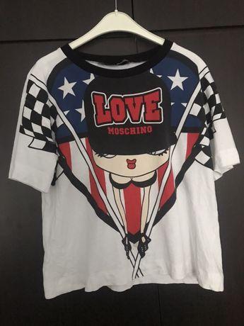 Koszulka t-shirt Love Moschino kolorowy XS S