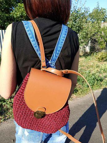 Вязанная сумка (рюкзачок ручной работы)