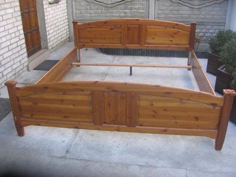 łóżko lite drewno 200x220 cm rama stan dobry , z niemiec