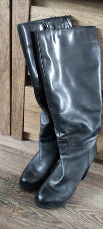 Сапоги женские кожаные демисезонные