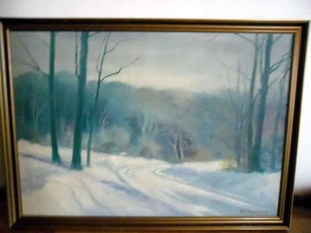 Frederik Halberg pejzaż zimowy