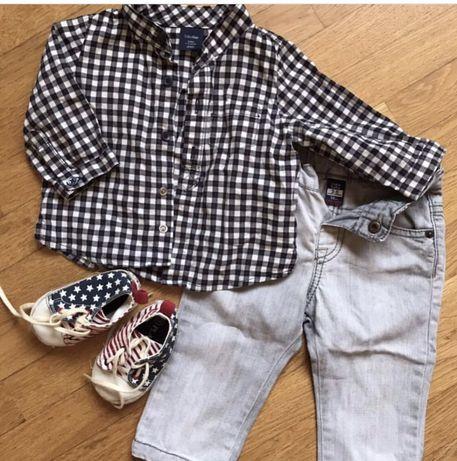 Рубашка, джинсы кеды 3-6 месяцев