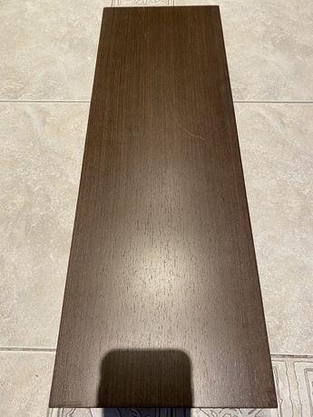 Solidna ciemnobrazowa PÓŁKA ŚCIENNA IKEA ciężka i wytrzymała 67x23x4