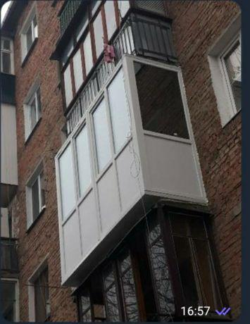 Французькі балкони під ключ Рівне Балконні Двері пластикові вікна