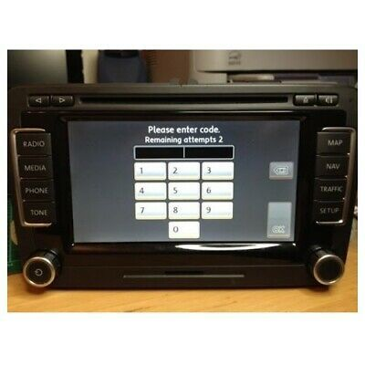 VW Radio Código PIN RCD510 RCD315 RCD310 RCD310 RN510 RNS310