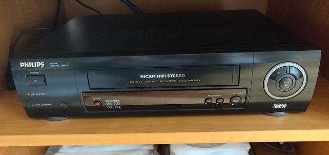 Magnetowid Philips VR 600 + kabel Scart + instrukcja