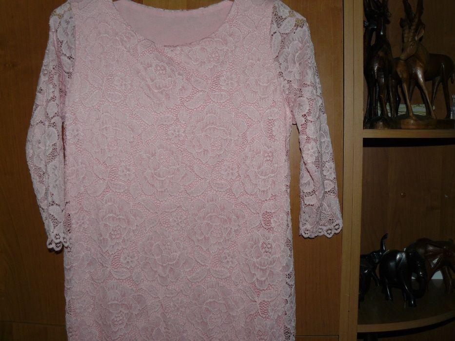 Sukienka Koronka Różowa M Nowa Wesele Italy Cudna Chojnice - image 1