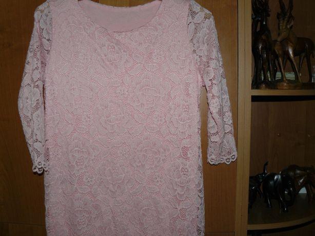 Sukienka Koronka Różowa M Nowa Wesele Italy Cudna