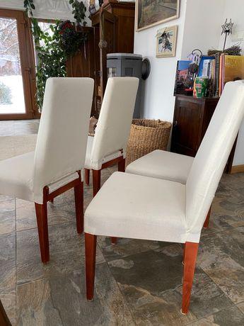 4x Wygodne krzesło pod pokrowiec - zestaw 4szt