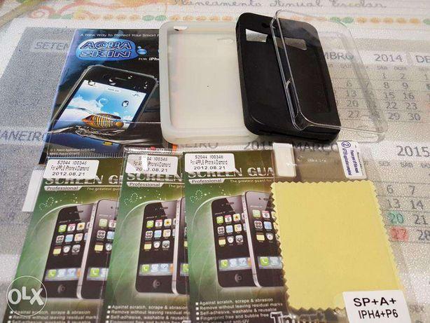 Capas e Protetores de ecrã para iphone 4 e 4S