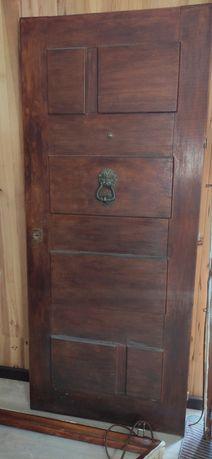Porta de entrada Madeira Maciça