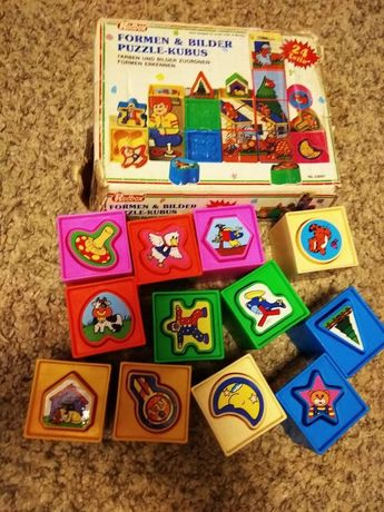 кубики пазли вкладиши
