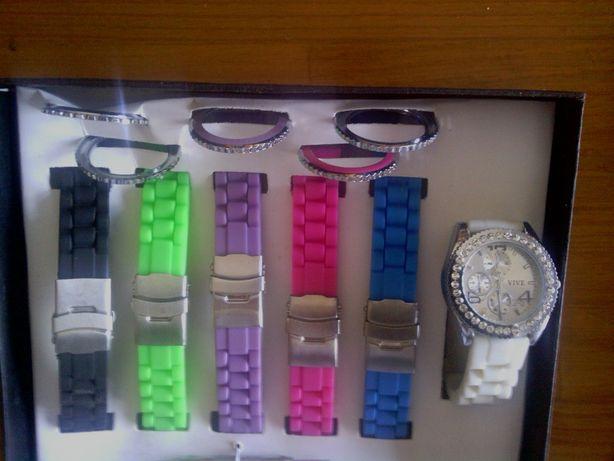 Relógio VIVE de senhora desportivo Com 6 braceletes de cor diferentes