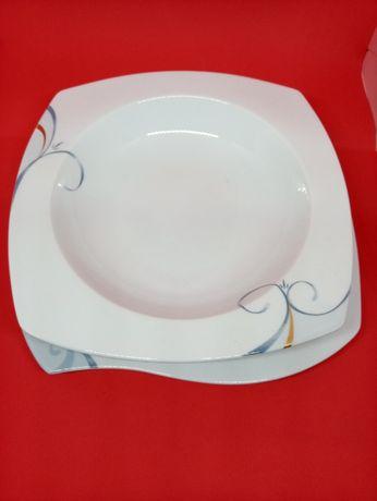 Jednoosobowy,porcelanowy zestaw obiadowy Victoria