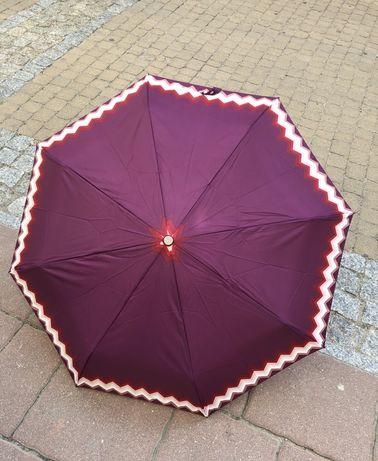 Parasol parasolka z drewniana rączka pełen automat carbon steel
