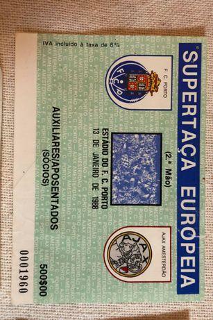 Bilhetes Jogos FCPorto antigos