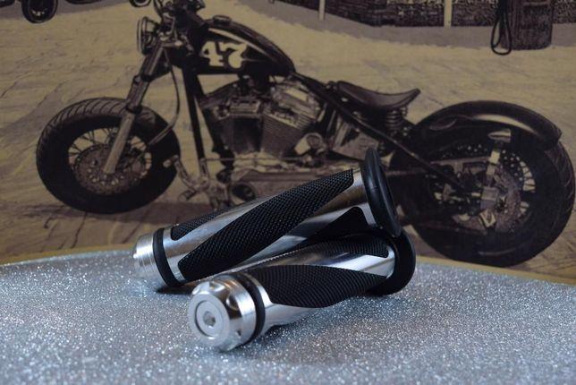 Punhos de mota universais acabamento em alumínio chopper bobber cafe