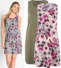 (22) Shirtowa sukienka w kwiaty 44-46 NOWA