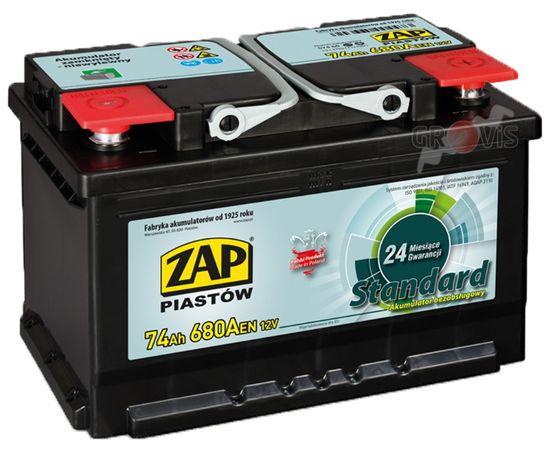 NOWY Akumulator 12V 74Ah 680A P+ Standard ZAP SZNAJDER 70Ah71Ah72Ah75