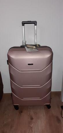 Duża walizka Rose gold
