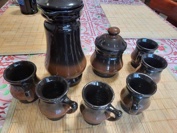 Набор посуды из глины на 6 персон