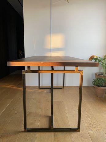 Stół fornirowany dąb wędzony 160x80cm designerski