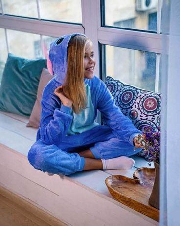 Кигуруми Стич детская пижама 100,110,120,130,140 рост