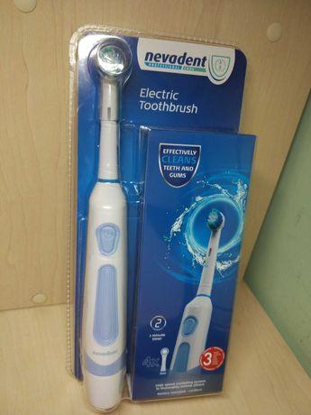 Электрическая зубная щётка nevadent с 4 сменными насадками