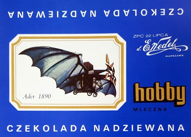 Hobby Wedel Opakowania czekolad - Seria B - Samoloty