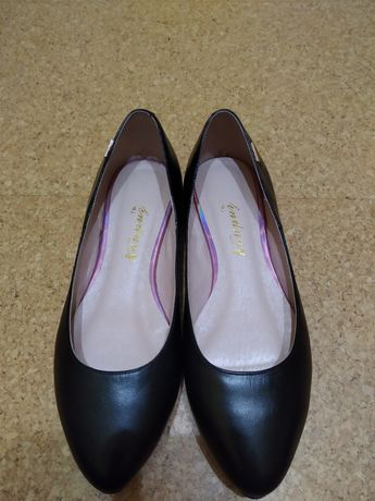 Новые туфли-лодочки, кожа