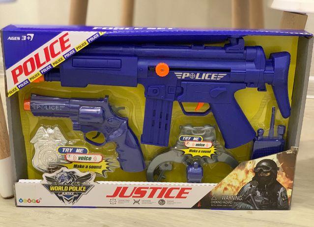 Полицейский набор детский игровой в коробке