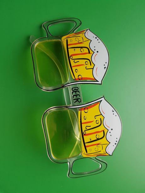 Okulary Beer, piwo. Śmieszne, impreza.