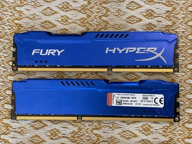 Оперативная память 16 GB (8Gbx2) HyperX Fury Blu Kingston