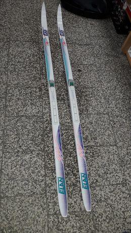 Narty biegowe ELAN Lite 185 cm z łuską + wiązania SNS