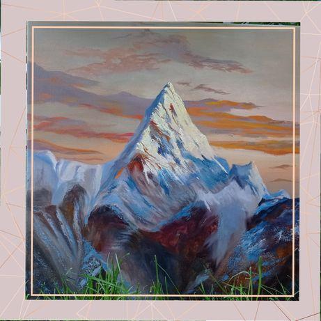 Картина  маслом Еверест гори,живопис