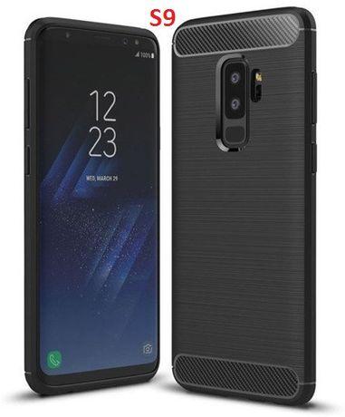 NOWE etui Samsung Galaxy S7 S9 Note 9 S8+ Plus carbon case pokrowiec