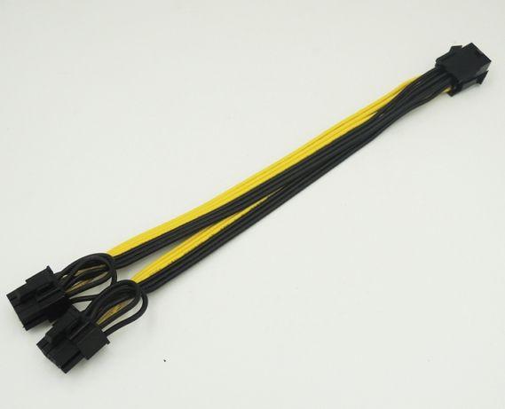 Кабель переходник питания видеокарты PCI-e 6 pin->2*8 pin (6+2).