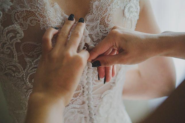 Romantyczna suknia koronka muślin 36/38 długi welon - NABLA Abigail