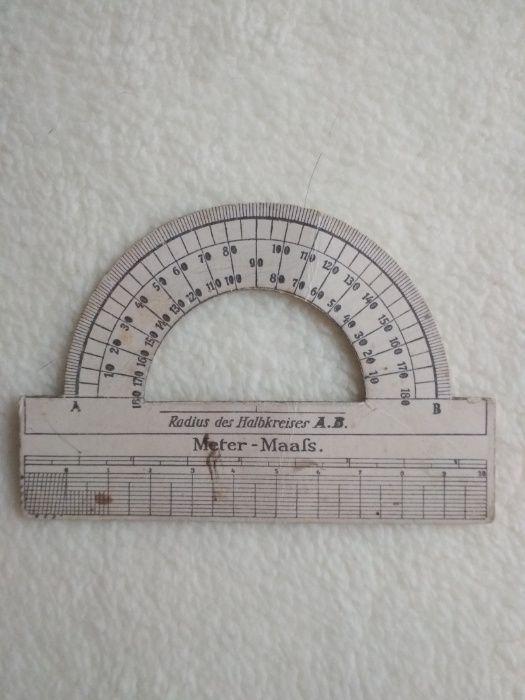 Kątomierz Radius des Halbkreisers A.B. Meter–Maafs, niemiecki l.20-te Luboń - image 1
