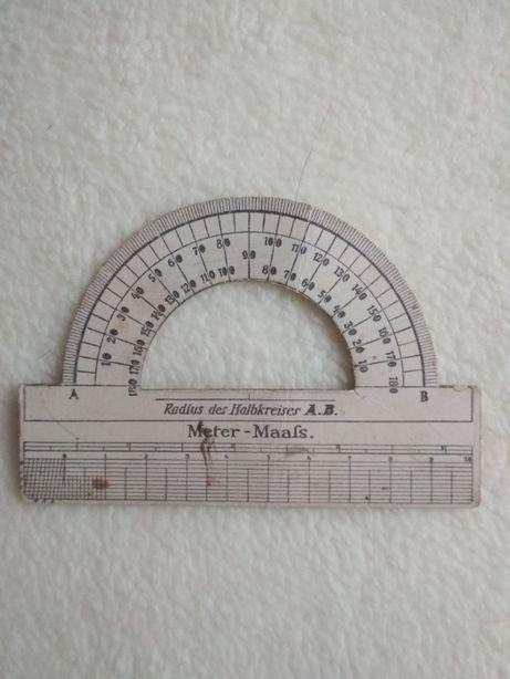 Kątomierz Radius des Halbkreisers A.B. Meter–Maafs, niemiecki l.20-te