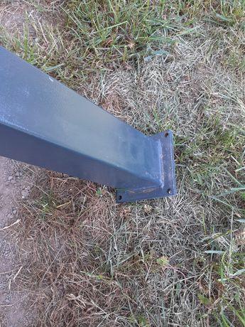 Słupek stalowy grafitowy pomalowany proszkowo 80x80