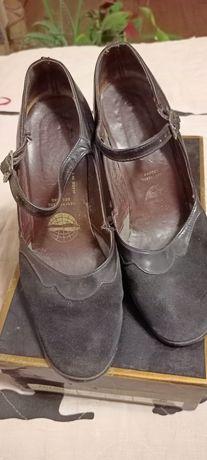 Винтажные югославские кожаные туфли 37.5-38 размер