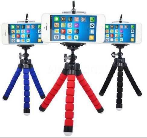 Гнучкий міні штатив тринога трипод для телефону і камери 25 см (павук)