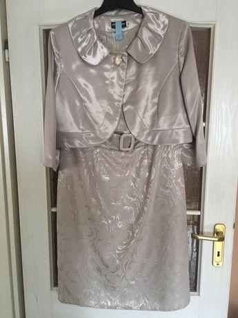 Komplet sukienka na wesele / ślub / komunie r. 46